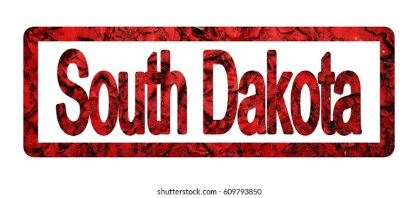 South Dakota, the names of the States in the red frame