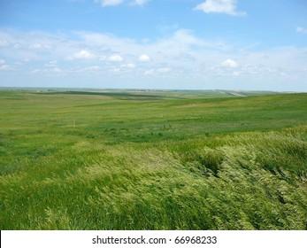 South Dakota Plains with Sky Horizontal