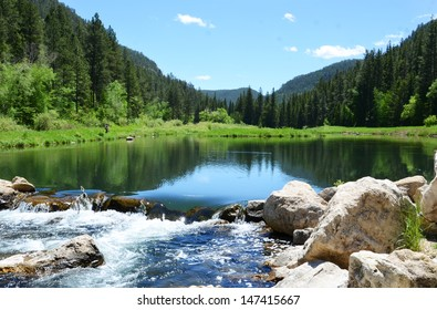 South Dakota Spearfish Canyon Trout Pond Fishing Summer Sportsman Paradise
