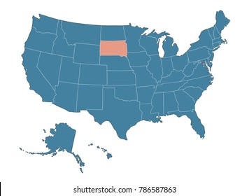 South Dakota state - Map of USA