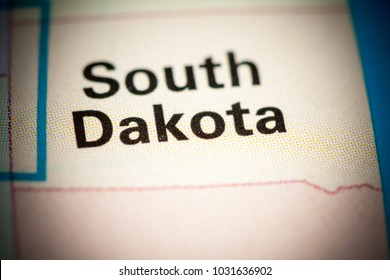 South Dakota. South Dakota. USA on a map.