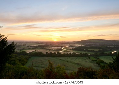 South Down National Park with view of the Ouse River at sunrise