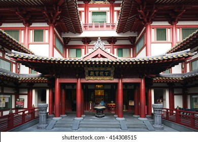 South East Asia, Singapore, December 4th 2015 Chinatown, Buddha Tooth Relic temple