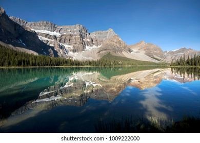 South End of Bow Lake, Banff National Park, Alberta, Canada 30 Kilometers North of Lake Louise
