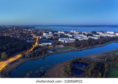 South end of Liepaja city, Latvia.