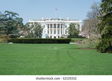 South Facade of the White House in Washington