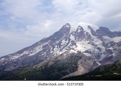 South face and glaciers of Mt. Rainier, Mount Rainier National Park