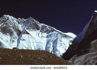 South Face of Lhotse  seen from near summit of Island Peak, Khumbu Himalaya,Nepal, Asia