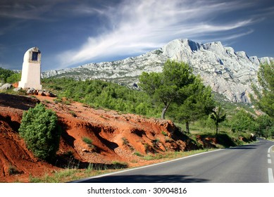 South face of the sainte victoire, in provence