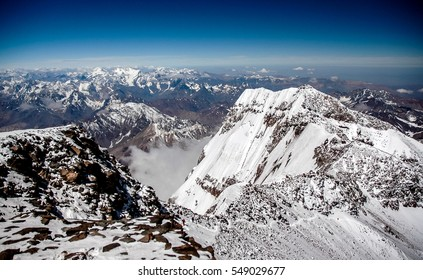 South face in Summit of Aconcagua