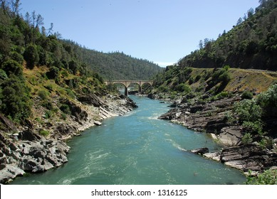 South fork of the American River in the Gold Country near Auburn, California