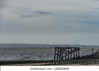 South Gare. Industry and coastline.