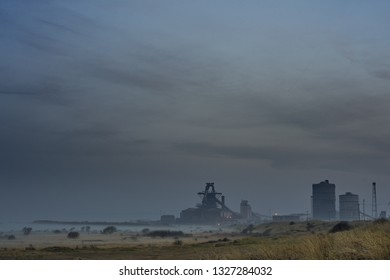 South Gare at Redcar. North east of England.