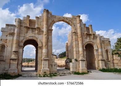 The South Gate in Jerash, Jordan. UNESCO World Heritage
