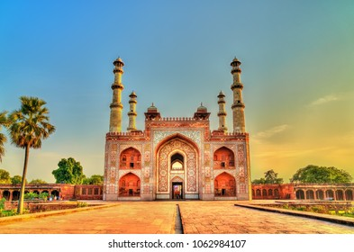 South Gate of Sikandra Fort in Agra - Uttar Pradesh State of India