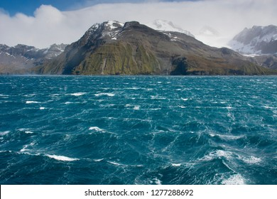 South Georgia. Fortuna Bay. Katabatic winds of estimated 7 on the Beaufort scale. on the Beaufort scale.