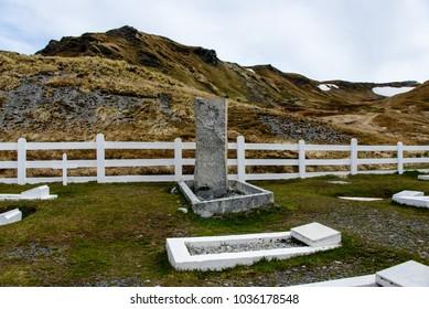 Gravestone, Grytviken, South Georgia, South America, America Stock Photo |  3631008 | Fotosearch