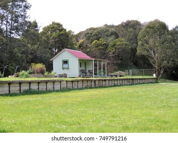 South Gippsland, Victoria, Australia, October 2017.   Remaining station building at Fish Creek.