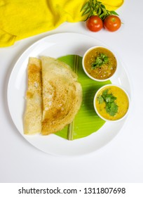 South indian breakfast/dinner dosa(dosai) with sambar and dal