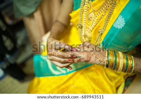 South Indian Bride Wearing Wedding Ring Stock Photo Edit Now