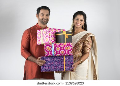 south indian couples in traditional dress