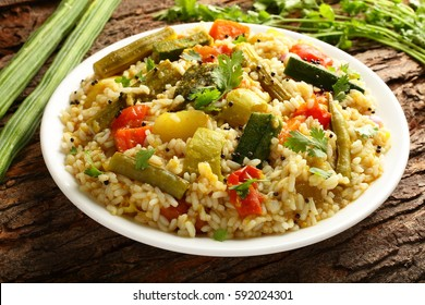 South Indian cuisine -Sambar rice also known as bisi bele bhath.