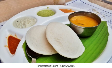 South Indian meal Idli Sambhar