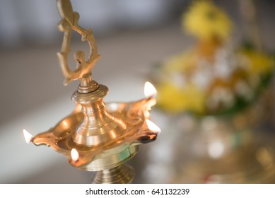 South Indian prayer ceremony items used on wedding day
