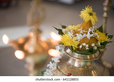 South Indian prayer items on a wedding day