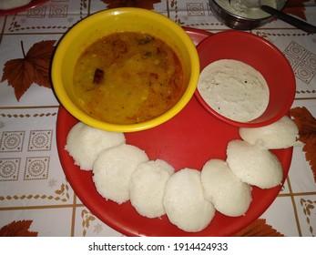 South Indian taste with idli sambhar and chutny - Shutterstock ID 1914424933