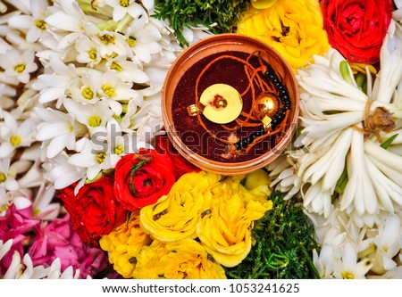 South Indian Wedding Traditional Thaali Midst Stock Photo Edit Now