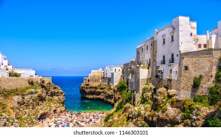 south italy sea village lagoon of Polignano a Mare - Bari province - Apulia - Italy