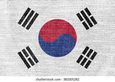 South Korea Flag Texture
