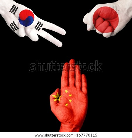 South Korea  Japan China rock-paper-scissors