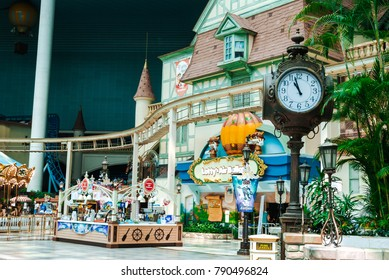 SOUTH KOREA, SEOUL - MAY 10, 2017: The Adventure, indoor section of Lotte World (Lotte Land) theme park. Lotte World is a major recreation complex in Seoul, South Korea.