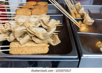 South Korea street food, Korea local food oden fish cake it is famous in Street food in Seoul, South Korea