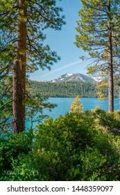 South Lake Tahoe, California, USA - July 8th, 2019: Summer in South Lake Tahoe, California, Emerald Bay State Park