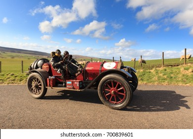 SOUTH LANARKSHIRE, SCOTLAND - MARCH 31, 2017: A 1913 American Chalmers 10   competes on the 2017 Flying Scotsman Rally for Pre War cars organised by ERA (Endurance Rally Association).
