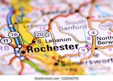 Rochester Maine Usa On Map Stock Photo Edit Now 1120545797