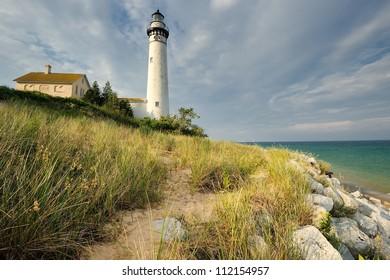 South Manitou Island Lighthouse, Sleeping Bear Dunes National Lakeshore. Michigan, USA