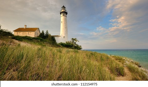 South Manitou Island Lighthouse, Sleeping Bear Dunes National Lakeshore. Michigan USA