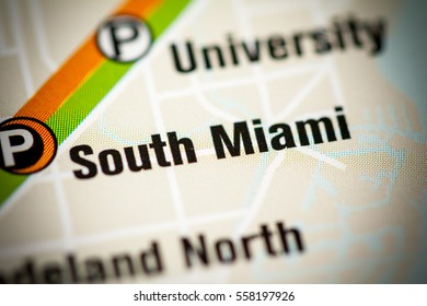 South Miami Station. Miami Metro map.