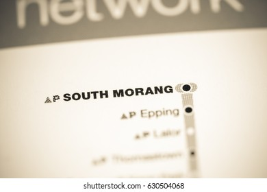 South Morang Station. Melbourne Metro map.