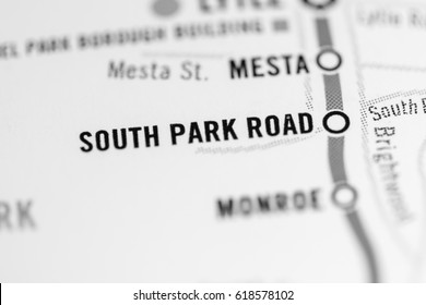 South Park Road Station. Pittsburgh Metro map.