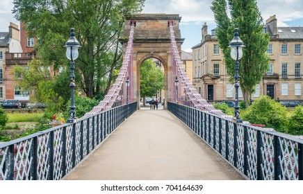 South Portland Street Suspension Bridge in Glasgow, Scotland.
