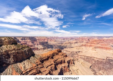 South rim of Grand Canyon in Arizona USA