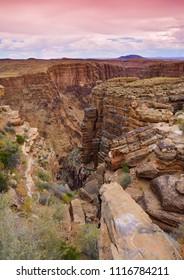 South Rim Grand Canyon before sunset, Arizona, US.