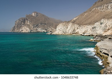 To the south of Salalah there is a beautiful sandy beach in Mughsayl. At the end of the beach there are the caves of Kahf Al Marnif and Mughsayl blowholes, of which the threshing water.Oman, Asia