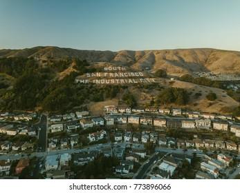 South San Francisco Sign Hill SFO
