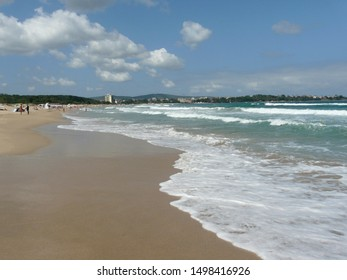 South sandy beach in Primorsko, Bulgaria - Shutterstock ID 1498416926